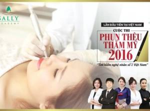 Trường dạy nghề thẩm mỹ tổ chức cuộc thi phun thêu 2016