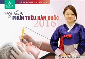 Buổi học thử Phun thêu Hàn Quốc cùng Tiến sĩ Regina Kim ngày 8/4/2016